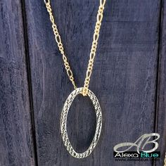 Oval necklace 18k gold filled オパールネックレス
