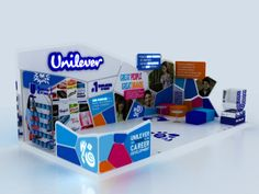 UNILEVER AUC and GUC booth  by Omnia Abdelsabour, via Behance