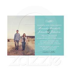 Classy and classic Tiffany blue wedding invitation-- my signature color