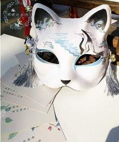 Kitsune Maske, Character Outfits, Character Art, Japanese Fox Mask, Kawaii Accessories, Cat Mask, Masks Art, Anime Outfits, Mask Design