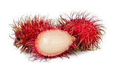 Red-spiked rambutan looks like a sea urchin, but it's really a sweet, juicy fruit that originated in Southeast Asia.