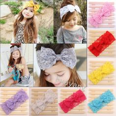7pcs Girls Kids Girl Baby Headband Lace Turban Knot Head Wrap Hair bow band in Clothing, Shoes & Accessories,Baby & Toddler Clothing,Baby Accessories | eBay