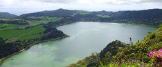 Lagoa das Furnas vista do miradouro do Pico do Ferro, Açores