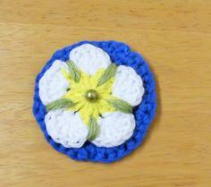 Handmade Crocheted Yorkshire Tudor Rose by HandKnittedYorkshire
