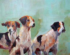 "Daily Paintworks - ""Three Buddies"" - Original Fine Art for Sale - © Anne Marie Propst"