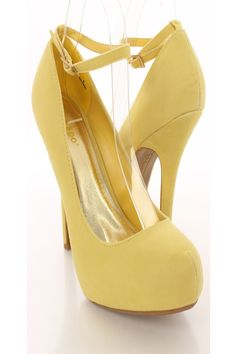 Doll up any outfit with these fabulous heels! Approximately 4 inch heel and 1 inch platform. Mustard Shoes, High Heels, Shoes Heels, Sexy Party Dress, 4 Inch Heels, Clubwear, Ankle Strap, Peep Toe, Platform