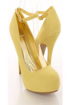 Yellow 3 Inch Heels