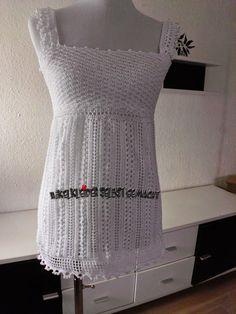 Häkelkleider selbst gemacht: Sommer Häkeltop kostenlose Anleitung, free crochet pattern
