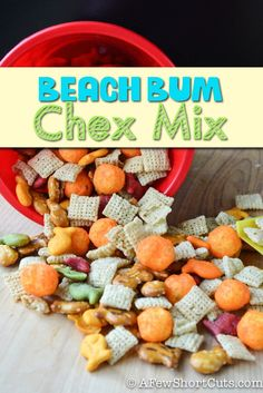 Perfect Shark Week Snack! Check out this Beach Bum Chex Mix #recipe