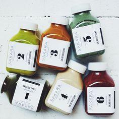 Sakara Superfood. Beautifully packed salad dressings. (More design inspiration at www.aldenchong.com) #packaging