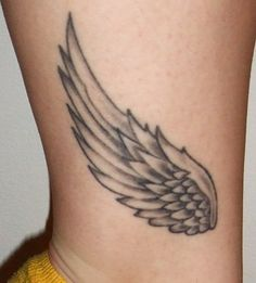 """I chose this tattoo for many reasons -- I was, and always will be, a cross-country runner. Along with being an English teacher, I know that I want to be a coach. I also like that the wings are connected to mythology. They represent Hermes, the messenger with winged sandals. This way, I get to put running and English together -- two passions, one tattoo!"""