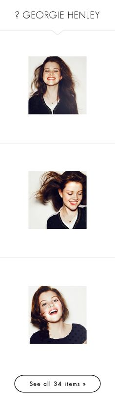 """♔ GEORGIE HENLEY"" by screamingincolor ❤ liked on Polyvore featuring people, pictures, georgie henley, photos, backgrounds, narnia, icons, models, tops and blue top"