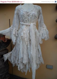 20%OFF vintage inspired shabby bohemian gypsy dress by wildskin