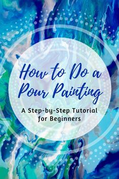 Learn how to do an acrylic pour painting in this step-by-step tutorial for beginners. I will teach you what supplies you'll need, how to prepare a canvas, and how to mix paints. You'll also find a pour painting recipe you can use to create your own abstract artwork.