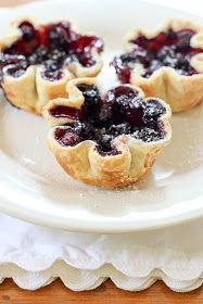 Cozy.Cottage.Cute.: Oooey, Gooey Blueberry Tarts