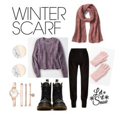 """""""Lovely Winter!"""" by ioana-adelina-1 on Polyvore featuring American Eagle Outfitters, Dr. Martens, Urban Outfitters, J.W. Anderson, Anne Klein and winterscarf"""