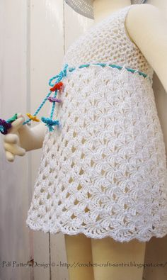 Sophie and Me: NEW CROCHET PATTERN PUBLISHED TODAY! SOFIA'S WHITE LACE SUMMER DRESS.