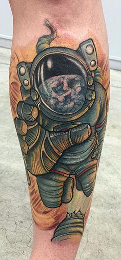 Astronaut Tattoo from AWARD-WINNING TATTOO ARTIST, TY PALLOTTA