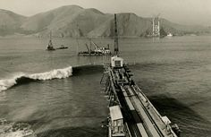 Construction began Jan 5, 1933. The bridge was opened May 27, 1937. Photo: Chronicle Archives