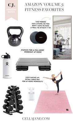 Building home gym from the comfort of your home. Pretty great, right? These are the equipment staples for my at-home wor Home Gym Garage, Diy Home Gym, Home Gym Decor, Gym Room At Home, Workout Room Home, Full Body Workout At Home, Basement Gym, Workout Rooms, At Home Workouts