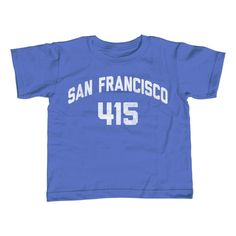 Boy's San Francisco 415 Area Code T-Shirt