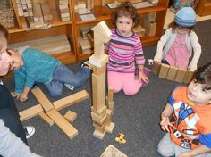 THE IMPORTANCE OF BLOCK PLAY  Block play has an important role in children's cognitive development in preschool. By using blocks to assemble things children learn that there are seemingly infinite possibilities. The structure being built can be a real item they have seen. Other times, it is from their imagination. By exploring blocks, children have many opportunities for developing math, science, language concepts as well as using their imagination.