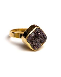 square maroon druzy ring....perfect