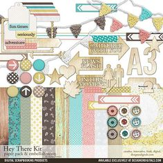 Hey There Kit - Digital Scrapbooking Kits DesignerDigitals