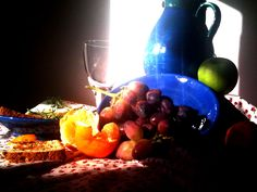 Be creative no matter with what... I was inspired by the play of light in the kitchen.