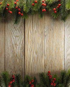 Растровый клипарт - Новогодние деревянные фоны