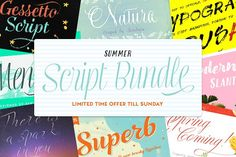 Summer Script Bundle by Rsz Type Foundry on @creativemarket
