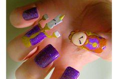 Nail art La belle et la bête