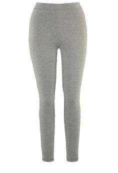 Avenue Plus Size Petite Basic Knit Ankle Legging, Medium Heather Grey 30/32p