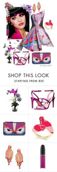 """""""Untitled #839"""" by stephanielee4 on Polyvore featuring Peter Pilotto, Nearly Natural, French Connection, Fendi, Kate Spade and David Jones"""