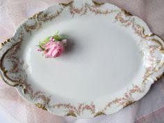 Vintage Haviland Limoges Pink Rose Large Serving by thechinagirl Just listed! #ssps