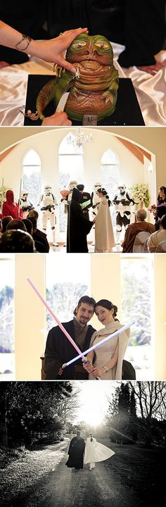 @Lauren Beter I'm sure by now you have a few reservations made, but I must remind you:  It's never too late to have a wedding that is strong in the Force.  I know a great Cantina Band cover band...