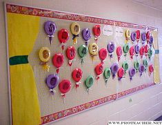 Bulletin Board of lollipops