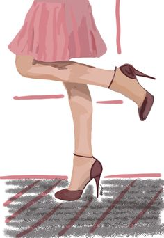 #draw #drawing #shoes #highheels #claretred #stiletto #tan #pantyhose #samsungsnote