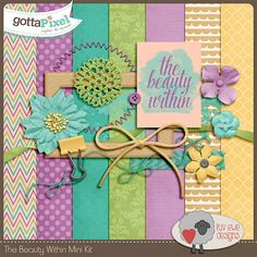 The Beauty Within Mini Kit :: Pixel Club Full Daily Downloads :: Pixel Club :: Gotta Pixel Digital Scrapbook Store