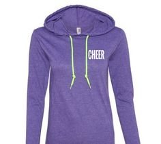 CHEER. hoodie. sweatshirt.l ongsleeve shirts.sweatshirts.cheer shirts.cheer leader.sweatshirts.long sleeve shirts. by ECVinylSupply on Etsy