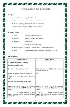 Detailed lesson plan in Science 3 Weng Gamaya Grade 1 Lesson Plan, Lesson Plan Pdf, Lesson Plan Examples, English Lesson Plans, Daily Lesson Plan, Science Lesson Plans, Teacher Lesson Plans, Science Lessons, English Lessons