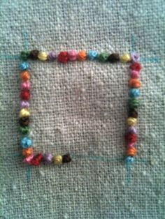 French knot border