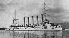 Russian Protected cruiser Askold during World War 1 in the Mediterranean Sea, Toulon. 1916