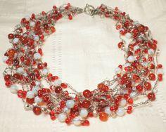 Opalite & Sardonyx Necklace from juta ehted - my jewelry shop by DaWanda.com