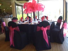 Zebra Print & Pink Feathers Decorations