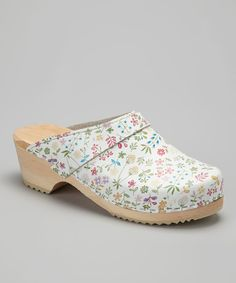 Take a look at this White Flower Allium Clog - Women on zulily today!