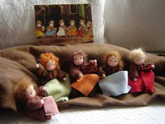 root children nature table waldorf dolls