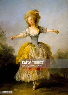 Fine art : Portrait of Mademoiselle Guimard, ballerina of Paris Opera, by Frederic Schall (1752-1825). France, 18th century