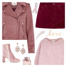 """""""Wear Pink for Love"""" by shoelover220 ❤ liked on Polyvore featuring Polly Plume, Acne Studios, River Island, Marc Jacobs, Bling Jewelry, Primitives By Kathy, Burberry, Express, Kevyn Aucoin and Pink"""