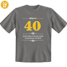 40 Plus: Birthday T-Shirt dunkelgrau, jetzt muss ich nur noch erwachsen werden! Ideales Geburtstags-Geschenk mit Jahreszahl Purzeltag (*Partner-Link)